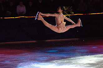 Sasha Cohen - Cohen performs a Russian split jump.
