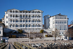 Hotels at Sassnitz beach promenade (seen from the pier)