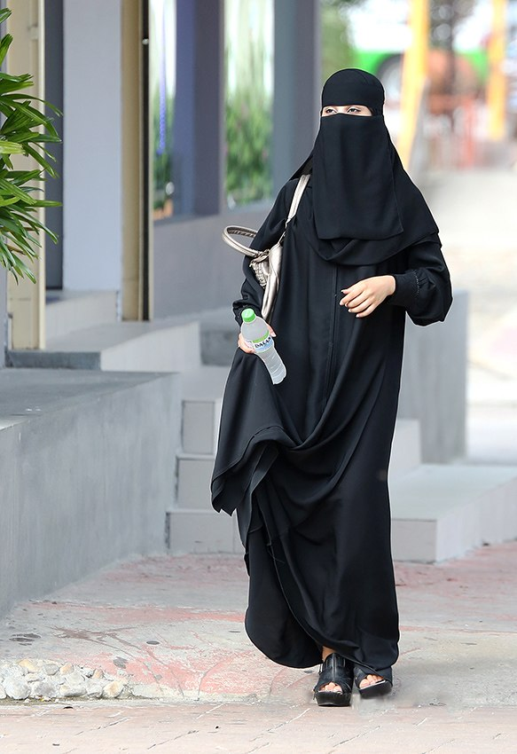 Saudi in niqap