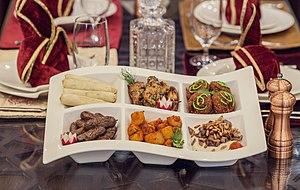 Arab cuisine - An Arab appetizer.