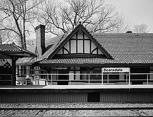 Scarsdale (Metro-North station) - Image: Scarsdale Railroad Station, East Parkway, Scarsdale (Westchester County, New York)