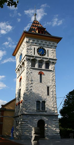Schlieren, Switzerland - So called Gaswerk tower in Schlieren