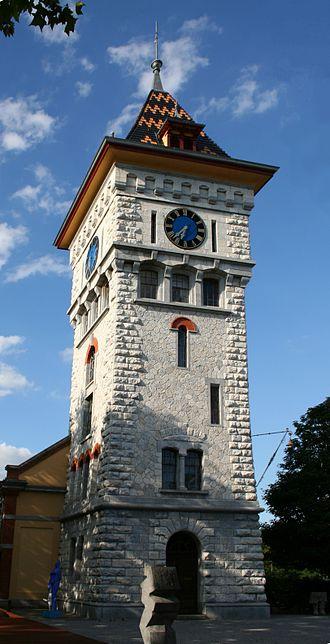 Schlieren, Switzerland - So called Gaswerk tower in Schlieren