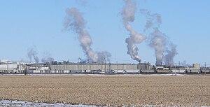 Schuyler, Nebraska - Cargill beef-processing plant at western edge of Schuyler