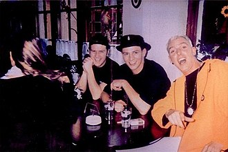 Scooter (band) - Scooter band during 1st Chapter (1993–98). From left to right: Rick J. Jordan, Ferris Bueller, H.P. Baxxter