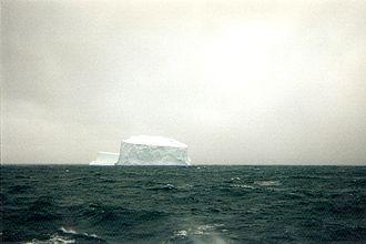 Scotia Sea - Tabular iceberg in the Scotia Sea, 1996