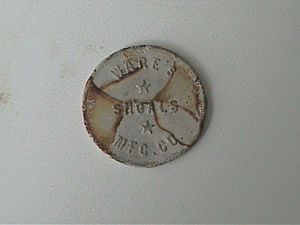 Ware Shoals, South Carolina - Scrip was used as currency in textile mill towns. It was good for use only in the company store.