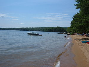 Sebago Lake - A beach in Sebago Lake State Park