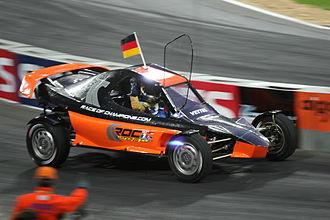 Race of Champions - Sebastian Vettel driving the ROC buggy.