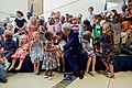 Secretary Kerry Sits for a Photo with a Group of Children After Addressing Staff and Family Members at the U.S. Embassy in Kigali (30291678486).jpg