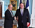 Secretary Pompeo meets with French Foreign Minister Jean-Yves Le Drian (45050921782).jpg
