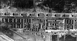 9th Aero Squadron - Selfridge Field, Michigan - 14 June 1918. Taken from an altitude of 3,500 feet.