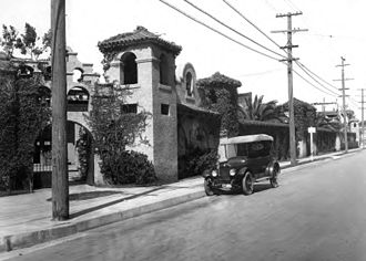 Selig Polyscope Company - Street view of the Selig Polyscope Company studio in Edendale, ca. 1910.