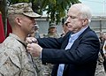 Senator John McCain promotes Camp Eggers Marine in Afghanistan (4760298687).jpg