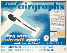 GPO Airgraph poster