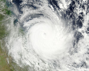 Cyclone Hamish - Hamish at its closest approach to land on 8 March