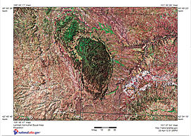 Shaded relief map of Black Hills, SD, Topographic-NatAtlas-BHills-SD.jpg