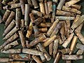 Shell Casings Exhumed from Mass Grave - Ninth Fort - Nazi Genocide Site - Kaunas - Lithuania (27306645073) (2).jpg