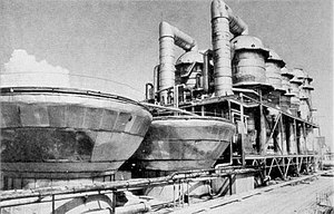 Shevchenko BN350 desalination unit situated on the shore of the Caspian Sea.