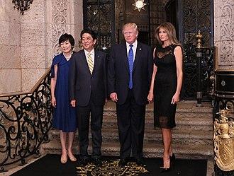 Mar-a-Lago - The Trumps hosting Shinzō Abe and his wife at Mar-a-Lago