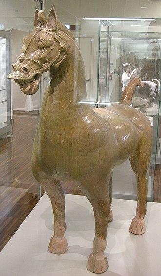 Protectorate of the Western Regions - Image: Sichuan, han orientali, cavallo con ciuffo e criniera corta, seconda metà II inizio III sec. 02
