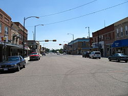 Looking South in Sidney's historic downtown