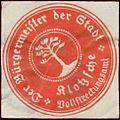 Siegelmarke Der Bürgermeister der Stadt Klotzsche (Dresden) W0393713.jpg