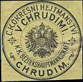 Siegelmarke K.K. Bezirkshauptmannschaft Chrudim W0322978.jpg