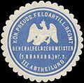 Siegelmarke K.Pr. Feldartillerie Regiment Generalfeldzeugmeister (1. Brandenb.) Nr. 3 W0363873.jpg