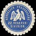 Siegelmarke K. Pr. 22. Reservedivision W0285470.jpg
