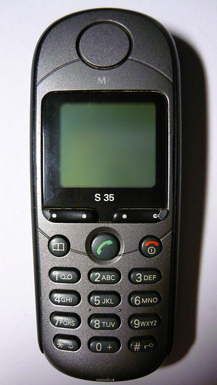 File siemens s35 mobile phone jpg wikimedia commons for Mobil wikipedia