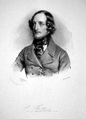 Sigismond Thalberg - Sigismund Thalberg, Lithograph by Josef Kriehuber, 1841.