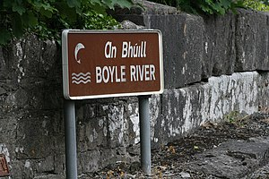 Boyle River (Ireland) - On the bridge at Knockvicar