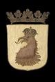 Skånes landskapsvapen med griphuvud, 1660 - Livrustkammaren - 108732.tif