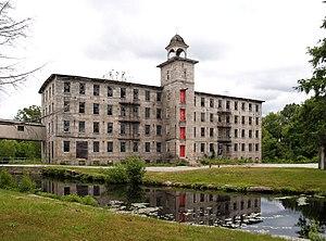 Slatersville, Rhode Island - Slatersville Mill, 2005, prior to renovation