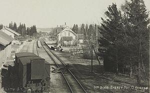 Eastern Østfold Line - Slitu Station during the 1920s