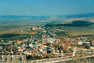 Spišské Podhradie - View on Spišské Podhradie from Spiš Castle