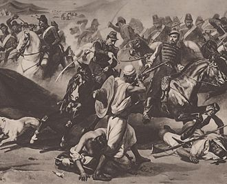 Chasseurs d'Afrique - Chasseurs d'Afrique during the battle of the Smala.
