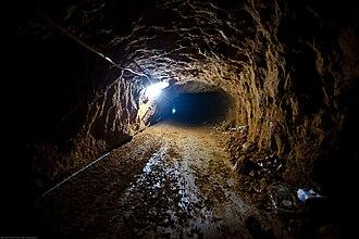 Gaza Strip smuggling tunnels - Smuggling tunnel in Rafah, 2009