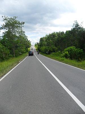 English: Soekarno Hatta Road in East Kalimanta...