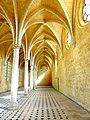 Soissons (02), abbaye Saint-Jean-des-Vignes, réfectoire, vaisseau est, vue vers le nord 2.jpg