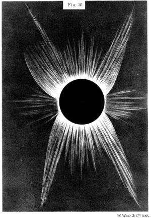 Solar eclipse of April 6, 1875 - Image: Solar eclipse 1875Apr 06 Lockyer