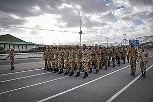 Conscription in Iran - Soldiers in a training marching (Kermanshah, Iran)
