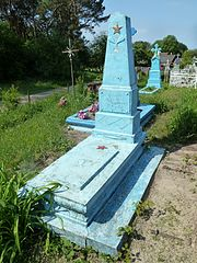 Solovychi Turiyskyi Volynska-grave of the unknown soviet warrior-general view.jpg