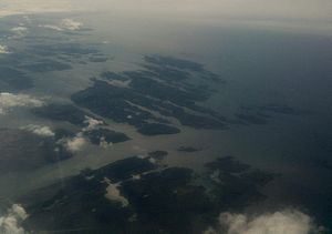 Solund - Aerial view of the islands