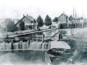 Soo Locks - Image: Soo Locks 19th Century
