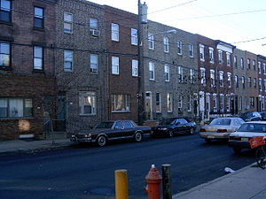 South Philadelphia - Row housing in South Philly, 2004
