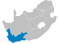 Location of Western Cape.
