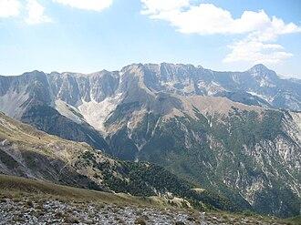 Nemërçka - Southern Nemërçka Mountains.