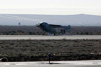 SpaceShipOne - SpaceShipOne landing